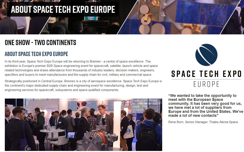 Space Tech Expo Europe 2019